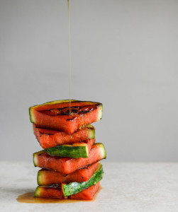 Honey Grilled Watermelon